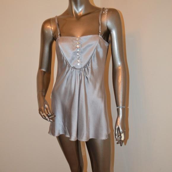 af942c23c55942 Jak Rae Tops - JAK RAE Silver 100% Silk Cami ...